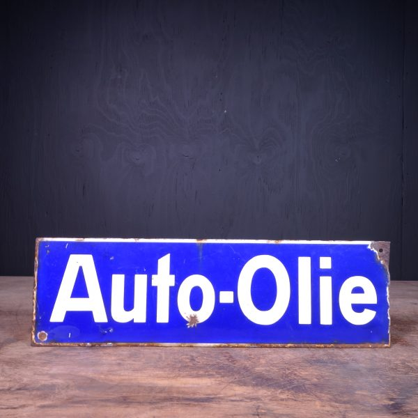 1930 Auto Olie Oil Sign