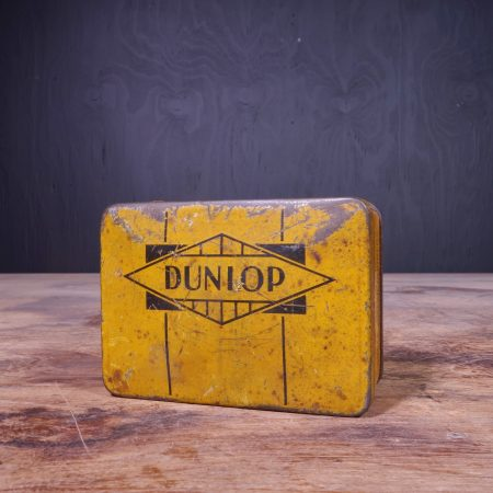 1940 Dunlop Moulded Cycle Valve Rubbers Tin