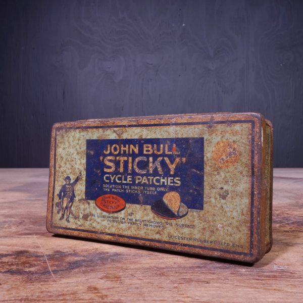 1950 John Bull Sticky Cycle Patches Tin