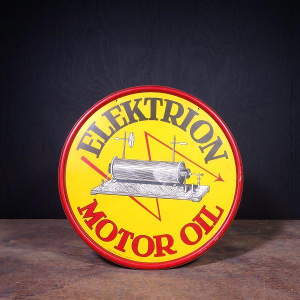 1946 Elektrion Motor Oil Tin Sign