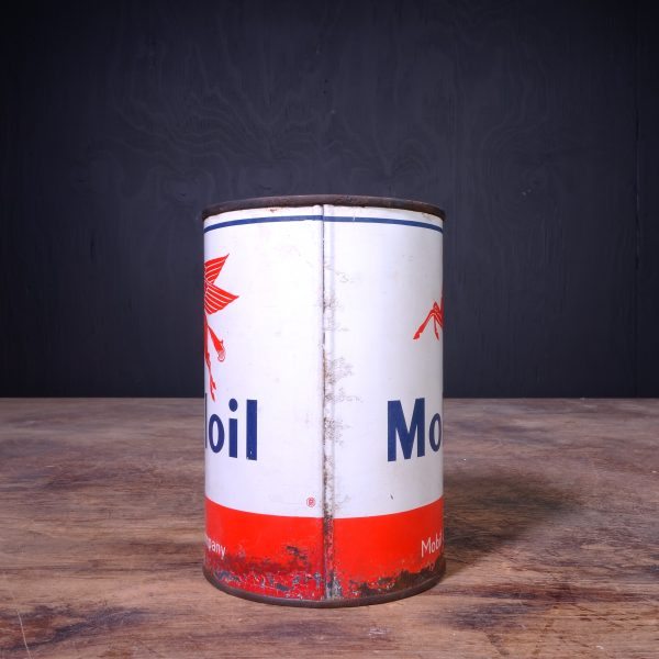 1950 Mobiloil Motor Oil Can