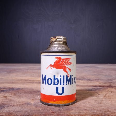 1950 Mobiloil Mobilmix U Oil Can