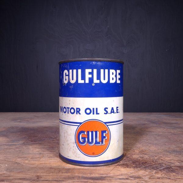 1950 Gulf Gulflube Motor Oil Can