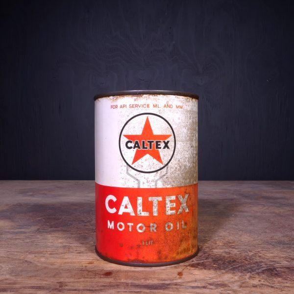 1950 Caltex Motor Oil Can