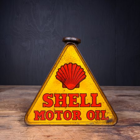 1930 Shell Motor Oil Triangle Can