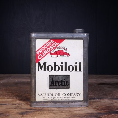 1930 Gargoyle Mobiloil Arctic Motor Oil Can