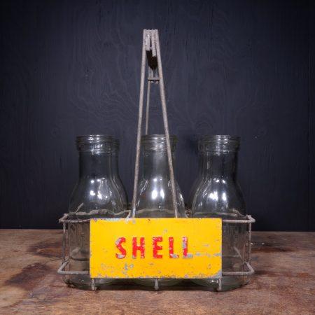 1950 Shell Motor Oil Bottle Rack