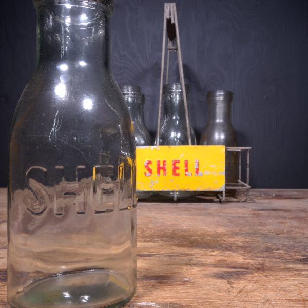 1950 Shell Motor Oil Bottle Rack