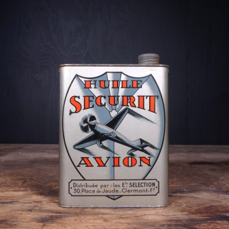 1930 Huile Securit Avion Oil Can